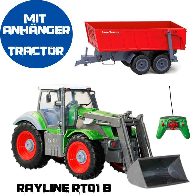 rc traktor mit anh nger kippen rt01b mit fernbedienung 1. Black Bedroom Furniture Sets. Home Design Ideas