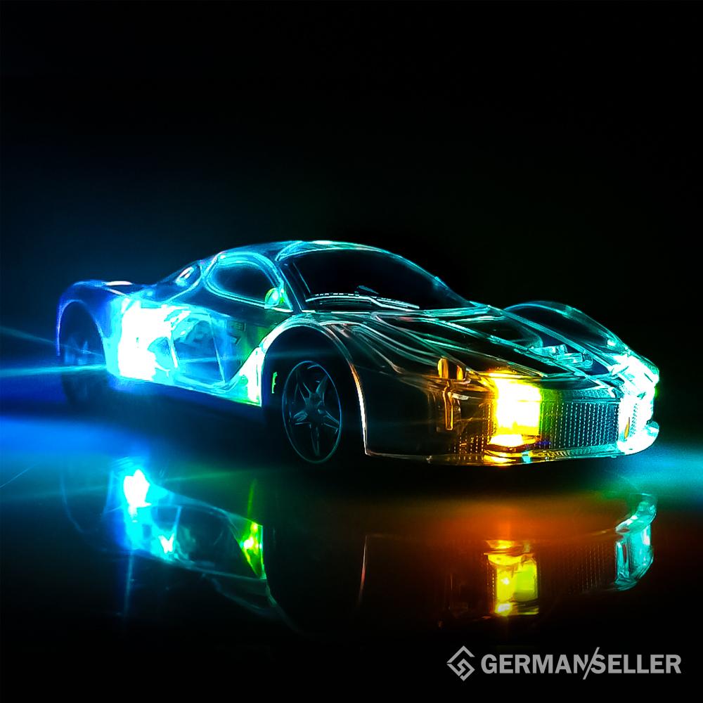 rc auto 3d led licht kabelloses ferngesteuertes auto. Black Bedroom Furniture Sets. Home Design Ideas
