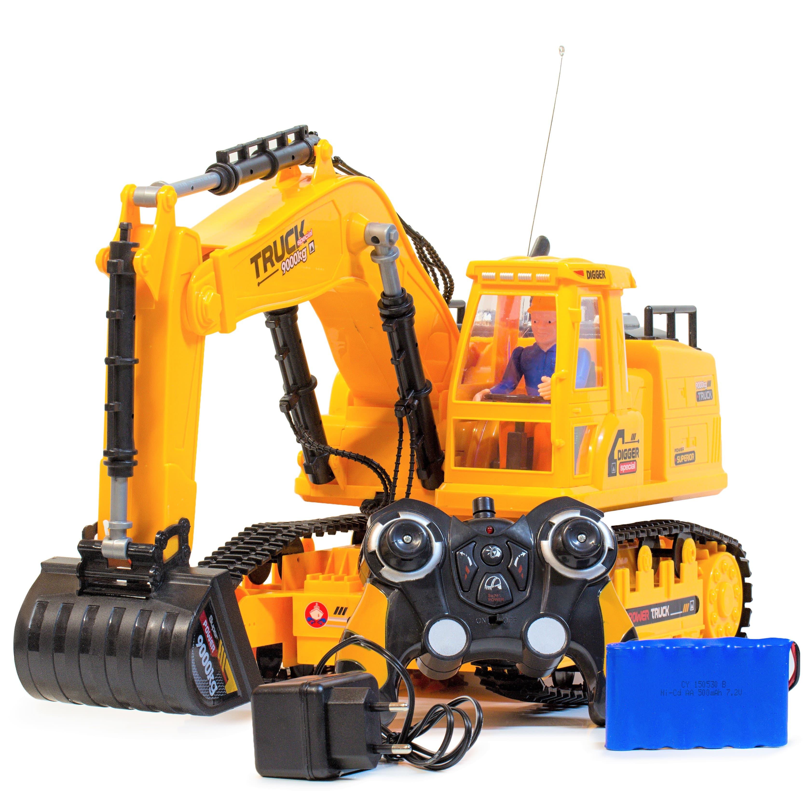 RC Ferngesteuerte Kabelloses XXL Bagger kinder Spielzeug Schaufelbagger XM-6817L