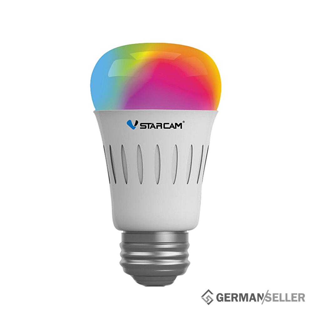 wifi lampe multicolor rgb led gl hbirne 1000 lm per app einstellbar smart home ebay. Black Bedroom Furniture Sets. Home Design Ideas