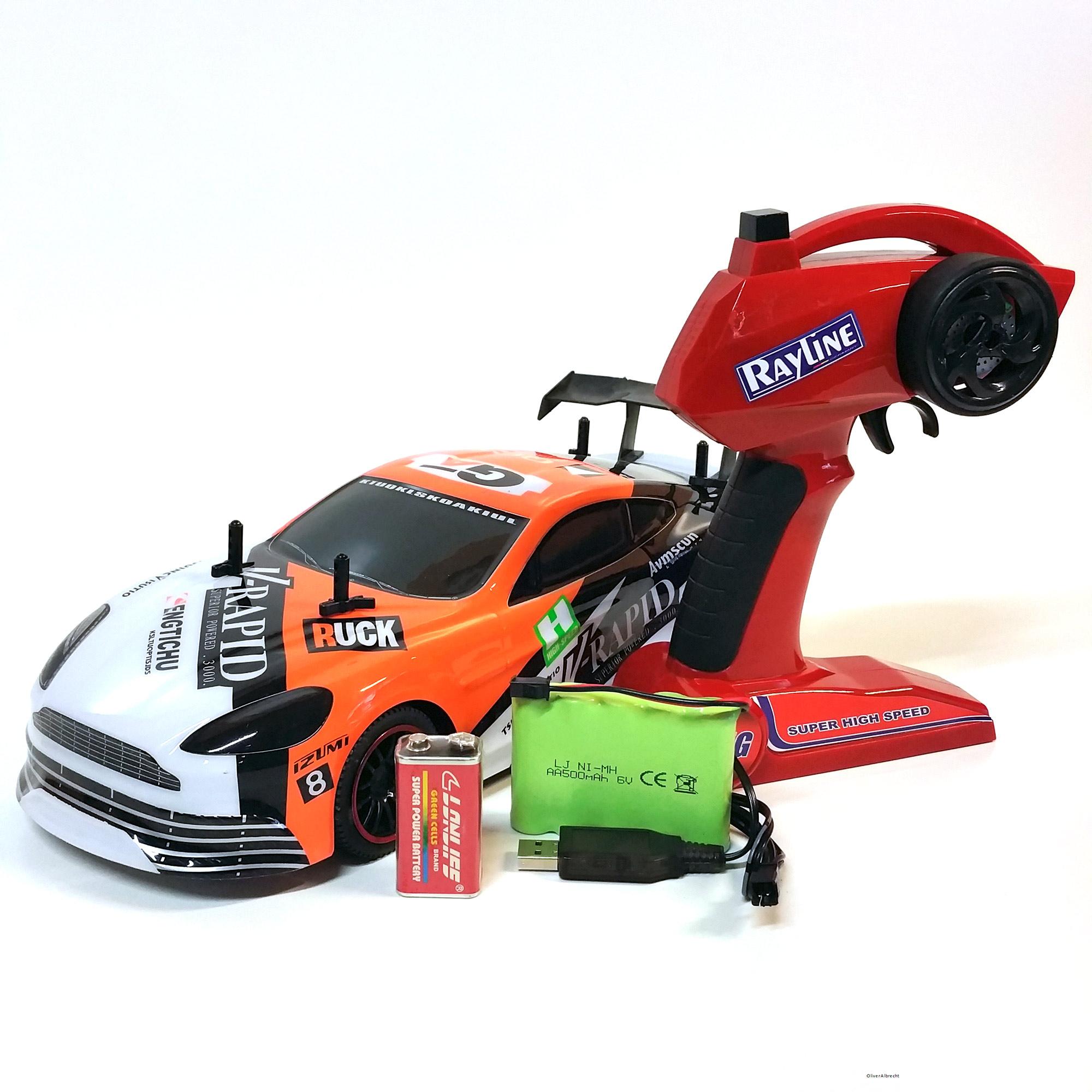 RC Ferngesteuertes AUTO Car Rennauto Spielzeug mit Fernbedienung RR14C mit Akku