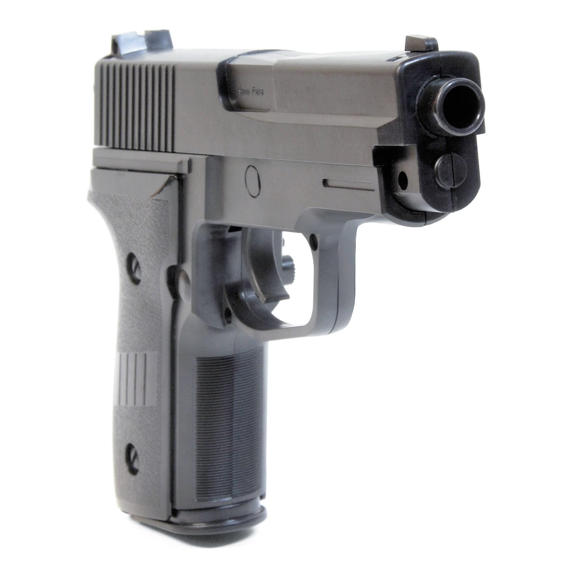 1000 BB Pistole Waffen Federdruck Softair Plastic Kugel Erbsenpistole Gun 2124
