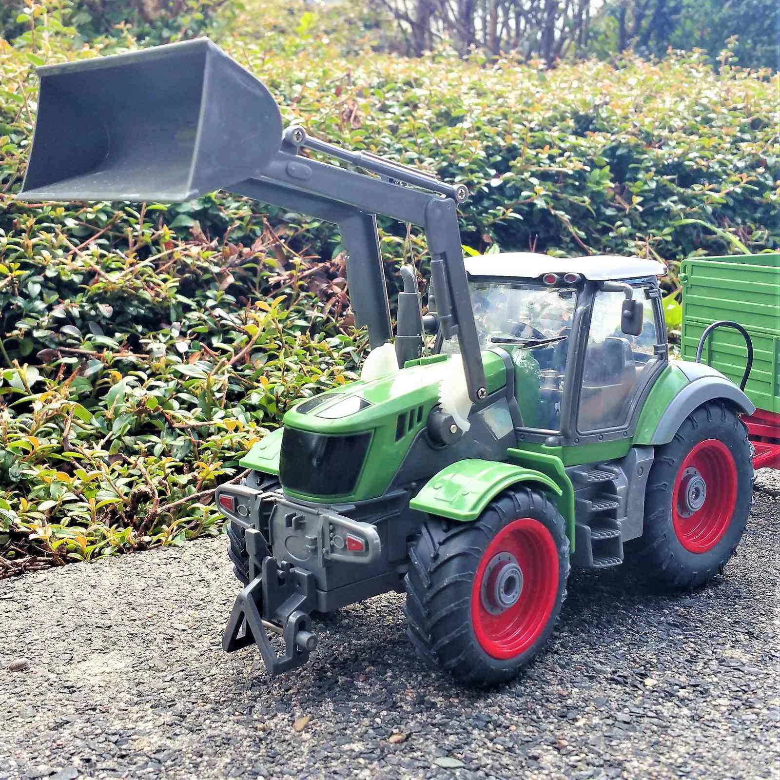 Rc ferngesteuerter kabellose traktor mit anhänger kinder