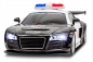 Preview: Spielzeug RC Kabelloses Ferngesteuertes Auto Roadster Audi R8 Polizei mit LED Licht