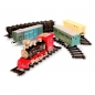 Preview: Zug Set mit elektrische Lokomotive und Schienen Rail King 19035c