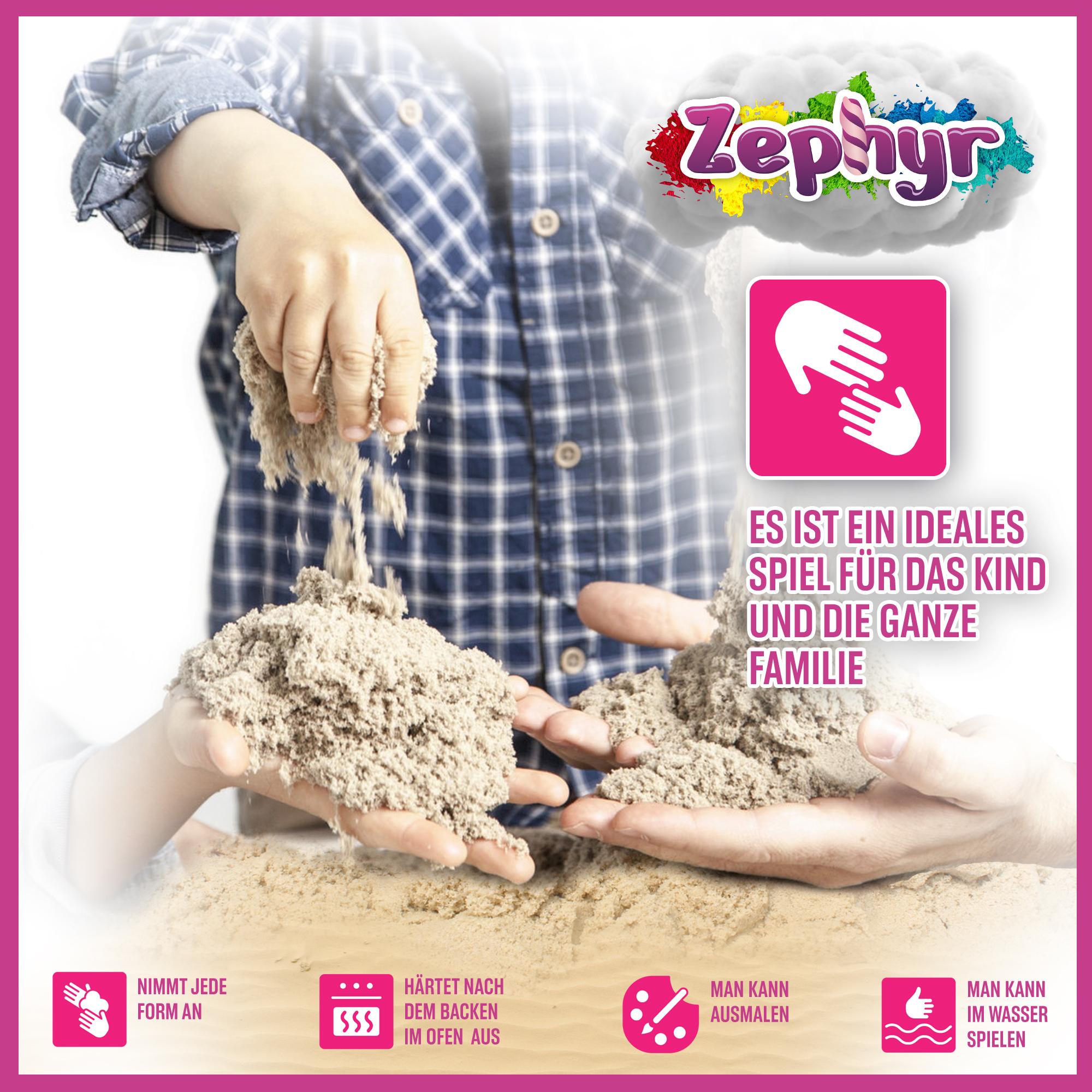 Zaubersand Magischer Sand Therapiesand Magic Sand Kneten Neu